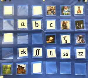 Clear Pocket Display Chart With Pocket Cards Set Pictures ABC Blank Cards Etc
