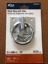 Blue Wake 2 Inch Hitch Ring With Plate Zinc-plated