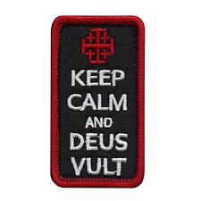 Keep Calm and Deus Vult God Wills It embroidered morale holy hook patch