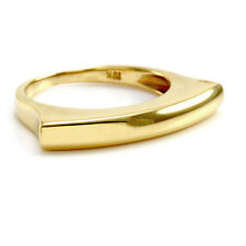 Contemporary Bar Stack Ring in 18K Yellow Gold | FJ