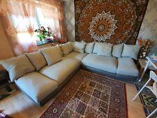 Ecksofa sofa couch Bigsofa mit Kissen
