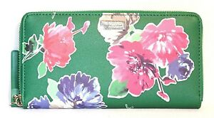 """NEW KATE SPADE NEW YORK- """"NEDA"""" BRIGHT WATER DRIVE WALLET: SPRING BLOOM GREEN"""