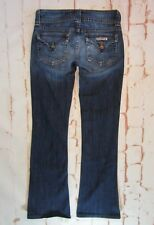 Women's HUDSON denim Jeans with UNION JACK Size 26 Low rise Bootcut Long Stretch