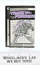 Astrotrain Action Figure Instruction Manual Booklet 1985 Hasbro G1 Transformers