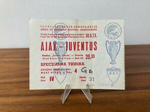 1973 original AJAX - JUVENTUS Champions Cup final BELGRADE ticket VIP