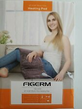 "Figerm Electric Heating Pad FOr Back 12""x24"" Extra Large Soft Fast Heating Brown"