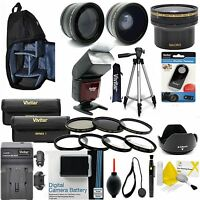 CANON REBEL T6 & EOS 1300D ACCESSORIES BUNDLE / KIT INCLUDES BAG FLASH LENSES
