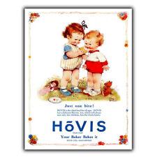 Hovis PAN Vintage Antiguo Cartel Placa de pared de metal de publicidad cartel impresión de cocina 1930s