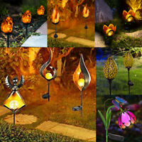 Solar Power LED Garden Light Flame Owl Lawn Way Ornament Waterproof Lamp Outdoor