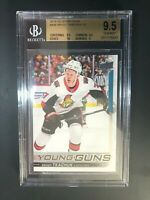 2018-19 Upper Deck Brady Tkachuk Young Guns Rookie BGS 9.5