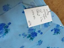 "VINTAGE BRUSHED BLUE PRINT NYLON SLEEPWEAR FABRIC  50""/128CM cm W X 1.7 m L"