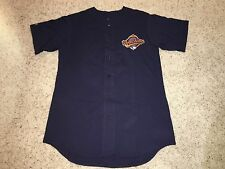 NWOT VTG Cleveland Indians 1995 World Series Majestic Button Jersey Mens Large