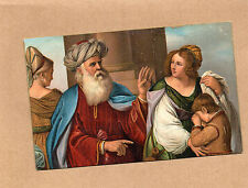 Early 1900's Art Card Misch & Co 1097 Abrahaqm expelling Hagar Guercino br2