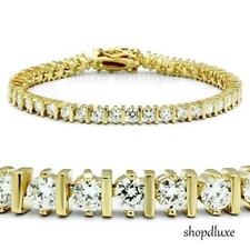 "7.0 Ct Round Cut 14k Gold Plated AAA CZ Cubic Zirconia 7"" Tennis Bracelet"