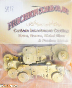 Precision Scale O #5012 Cylinder Blocks, 2 Front & 2 Rear (Brass Castings)