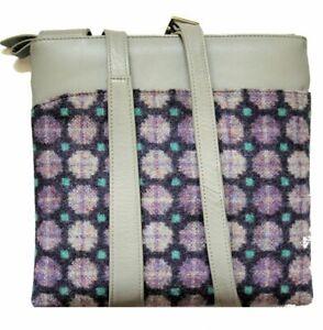 Yfenni Leather Handbag British Tweed Medium Cross Body Handbag RRP £57.99
