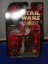 1999 STAR WARS TPM EPISODE I - NABOO ACCESSORY SET WITH GRAPPLING HOOK BACKPACK