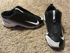 brand new a5c68 97451 Boys NIKE VAPOR BASEBALL CLEATS size 2.5 Youth Black white Gray NO LACES H88