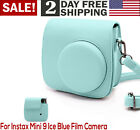 For Fujifilm Instax Mini 9 8 8 Film Protective Camera Case With Strap Ice Blue