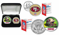 SAN FRANCISCO 49ERS Officially Licensed NFL 2-COIN SET w/ Deluxe Display Box