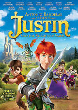 JUSTIN AND THE KNIGHTS OF VALOR~2013 VG/C DVD~ANTONIO BANDERAS OLIVIA WILLIAMS