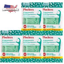 5 x 60 packs = 300 total PLACKERS MINT FLOSS PICKS DENTAL FLOSSERS TEETH Tooth