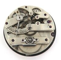 1800s HIGH GRADE KEY WIND UNBRANDED POCKET WATCH MOVEMENT & DIAL.