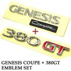 Hyundai Genesis Coupe Lettering Logo Emblem 380gt Set Oem For 08 09 10 11 12