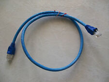 100 - 1' FT CAT5e PATCH CORD ETHERNET NETWORK CABLE BLUE Tuff Jacks Quality!