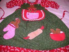Gingerbread cookie Ooak TDF Pettidress swing apron 2in1 Dress Christmas 9 10 12
