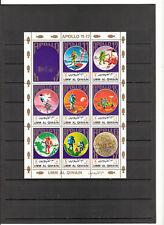 """N°551 - UMM AL QIWAIN ( 1973 ) ( poste aérienne) 1 feuillet """" Apollo """""""