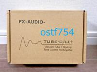 FX AUDIO TUBE-03J + Vacuum Tube Hybrid Preamp Tone Control Black