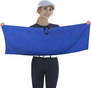 Golf Towel Waffle 14''x42''inch Hook to Bag Belt Club Towel Clip 1 Pc Gifts UK