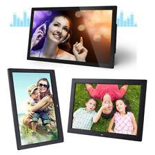 "UK Plug 1080p 17"" LED Digital Photo Frame Picture Movie Player Remote Control"