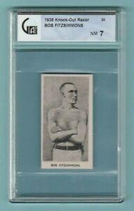 1938 Cartledge Knock Out Razor #24 Bob Fitzsimmons GAI 7