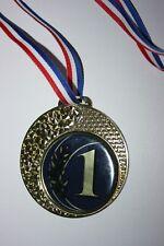 """Médaille """" Or """" NUMÉRO 1 avec ruban diamètre 70 mm poids 50 gr"""