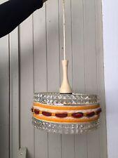 Retro Vintage 1970s Glass Perspex Mid century Ceiling Lampshade Interior design