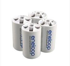 Battery Adaptor Converter Case 4pcs/lot Sanyo Eneloop AA Size to D Type Battery