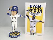 2021 Milwaukee Brewers Ryan Braun 50th Anniversary Bobblehead In Box