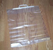 "10 CLEAR PLASTIC STORAGE BAGS RESEALABLE RECLOSEABLE  W/ HANDLE 15""x17"" 1.75 MIL"