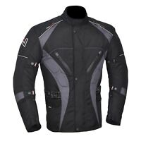 Men's Motorcycle Motorbike Jacket Waterproof Textile CE Armoured 4 Colours