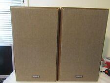 Pair Of Vintage ADVENT 2002 Bookshelf Speakers - Henry Kloss Design repair