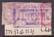 "NIGER COAST  BOX  POSTMARK   ""ROYAL NIGER COMPANY POST OFFICE BURUTU""  1899"