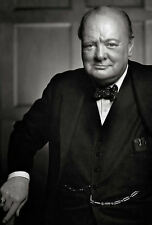 Lámina-Winston Churchill (Foto Guerra Mundial 2 Primer Ministro británico)