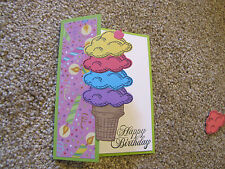 Happy Birthday Ice Cream Scoops Pink Friendship Card Kit 4 w/Some Stampin Up