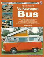 VOLKSWAGEN BUS HOW TO RESTORE BOOK VW TRANSPORTER SHOP MANUAL REPAIR PAXTON MARK