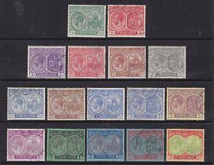 St. Kitts-Nevis - SG 37/47c - f/u - 1921/29 - 1/2d - 5s