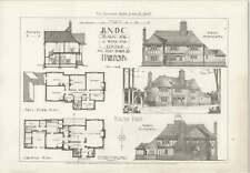 1908 Design For A Weekend Cottage In Half Timber By Harlequin, Design Plan
