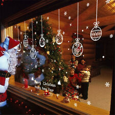 Christmas Snowflake Ball Glass Window Stickers Decorative Art Decals for Room