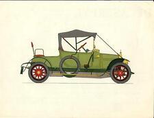 Stampa antica AUTOMOBILE 1912 VERMOREL 12/16 Olivier 1960 Old antique print car